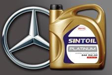 Моторное масло SINTOIL PLATINUM SAE 5W-40 API SN/CF получило допуск автопроизводителя DAIMLER AG ― Mercedes-Benz