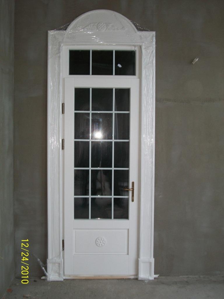 Дверь дубовая с импостами