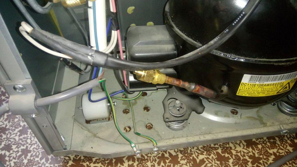 Засор капиллярной трубки холодильника