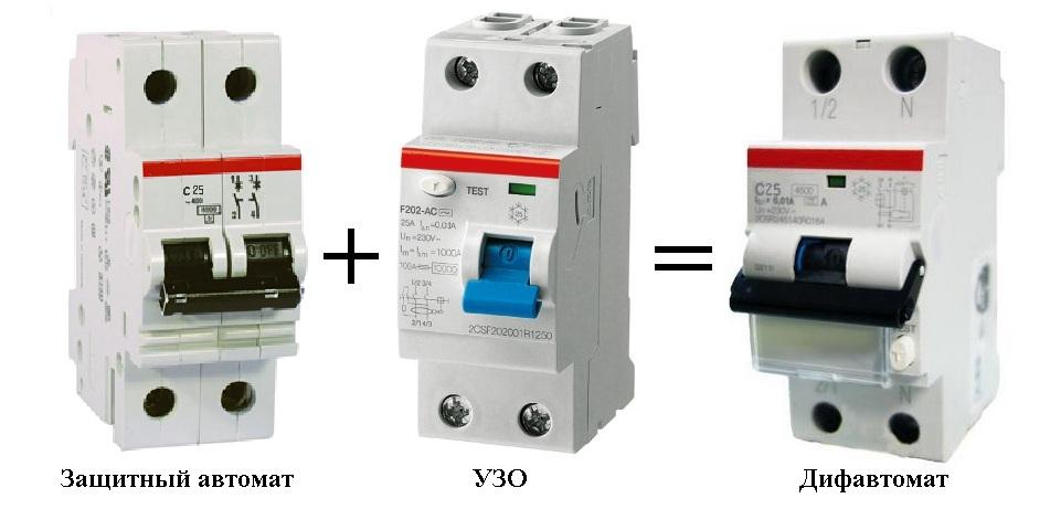 УЗО и дифференциальный автомат