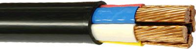 Жила кабеля ВВГнг - круглая из мягкой медной проволоки