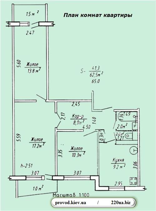 Общий план квартиры или дома