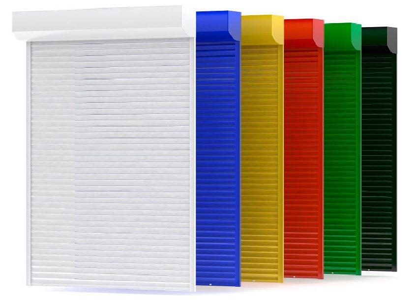 Рольставни представлены в разнообразных цветовых решениях