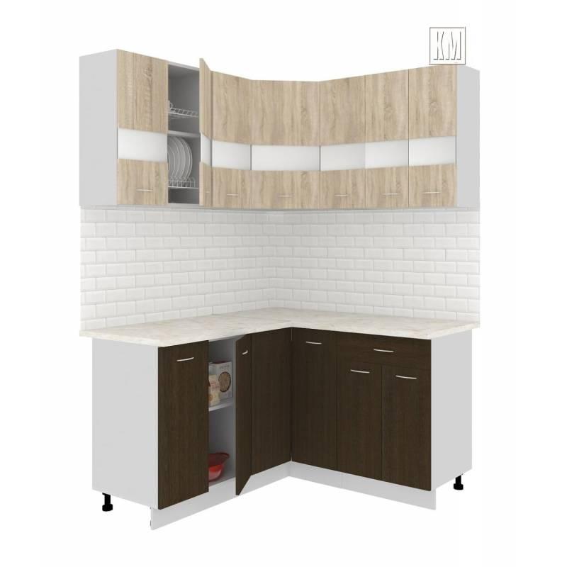 Кухня угловая Экстра 1,5 х 1,5 м венге-дуб сонома