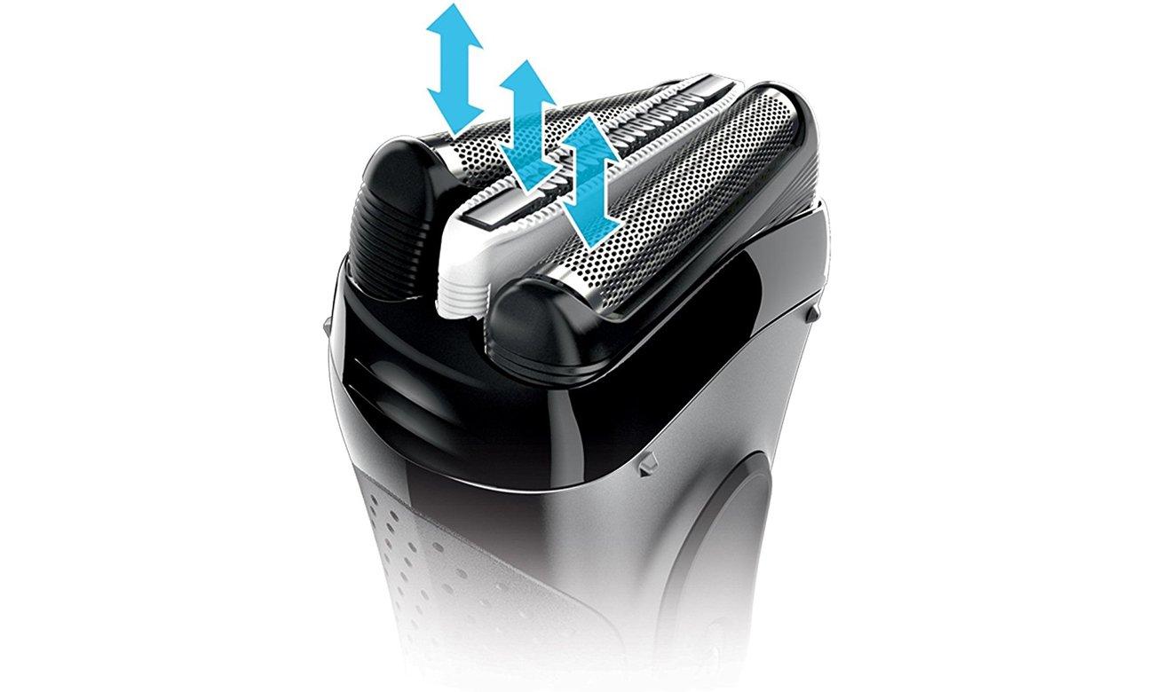 Электробритва мужская Braun Series 3 3000 черно-серый
