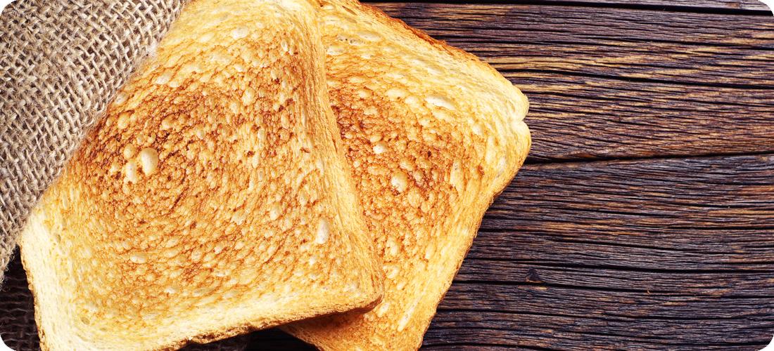 Равномерное, точное поджаривание хлеба
