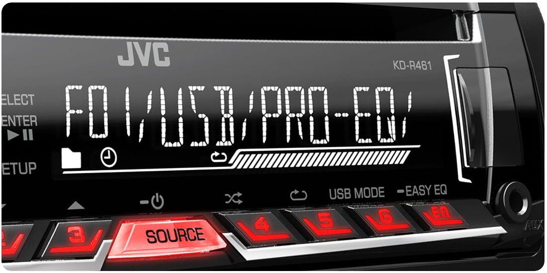 Автомагнитола JVC KD-R461 с USB