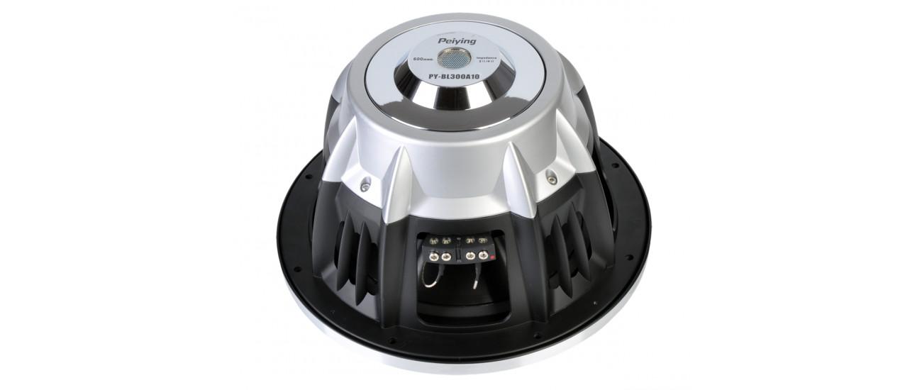 Чистый, мощный звук динамика автомобильного Peiying PY-BL300A10