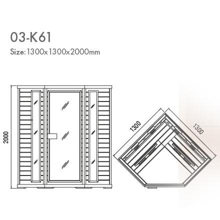инфракрасная сауна KOY 03-k61 схема