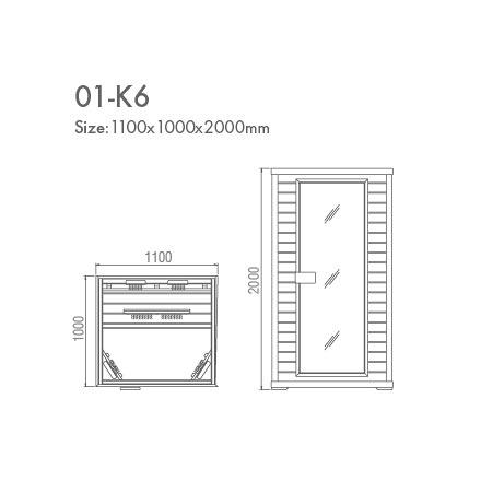 инфракрасная сауна KOY 01-k6