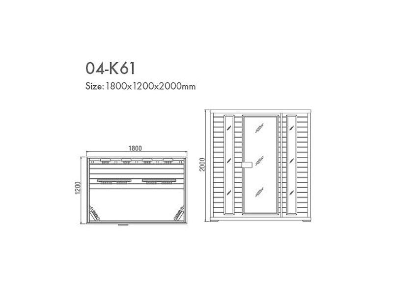 инфракрасная сауна KOY 04-k61 схема