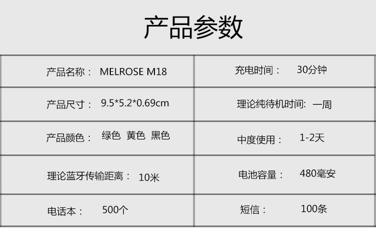 melrose M18-18