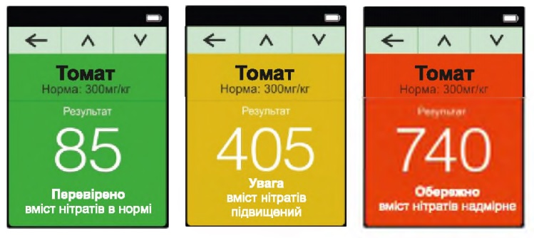 GreenTest ECO в режиме измерения уровня нитратов