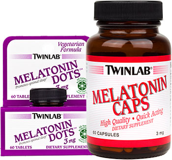 Мелатонин Melatonin 3mg от Twinlab