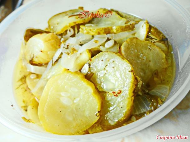Латгальский салат из огурцов