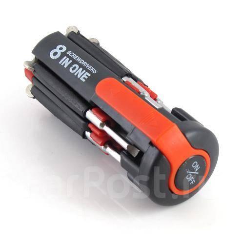Новый! 8 in 1 Multi Portable Screwdriver набор отверток с фонариком