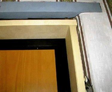 Доборы с внутренней стороны двери