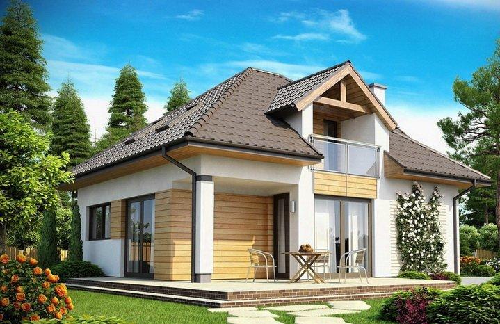Красивая дача с оригинальным дизайном