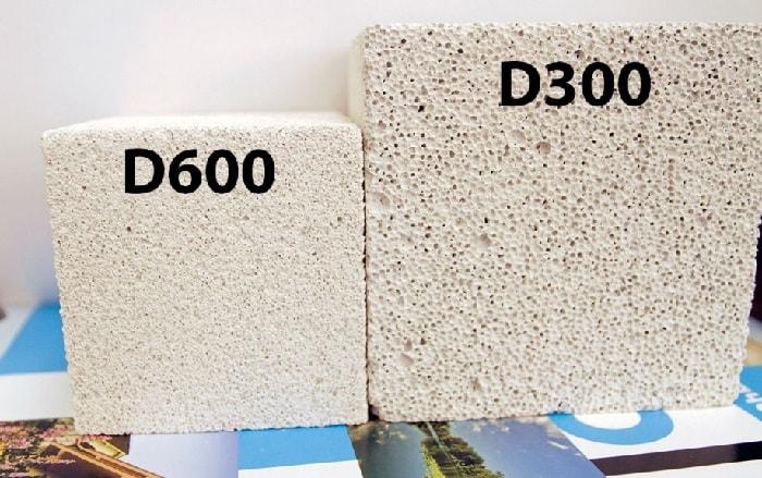 Марка газобетона D300 и D600