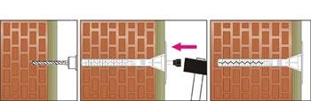 Крепление минеральной ваты к кирпичу дюбелем с металическим стержнем Wkret-Met LFM