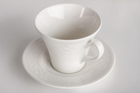 Чашка фарфоровая с блюдцем 220мл KAROLINA Lorel