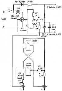 Электрическая схема экономителя энергии эконор
