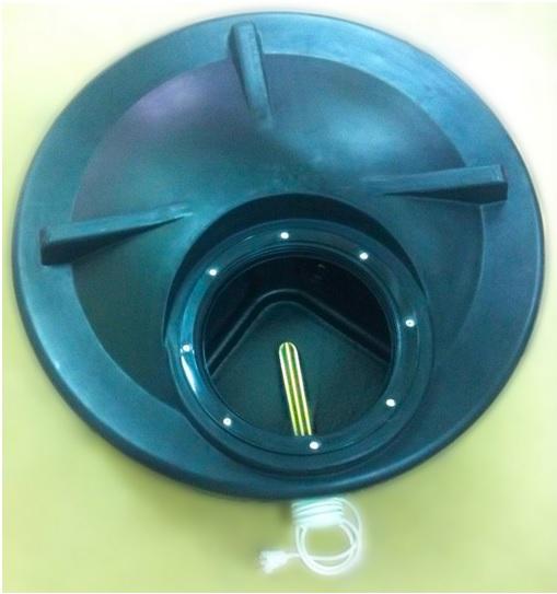 пластиковый бак для душевой кабины с нагревателем