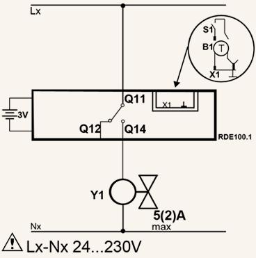 Схема подключения термостата Siemens RDE 100.1