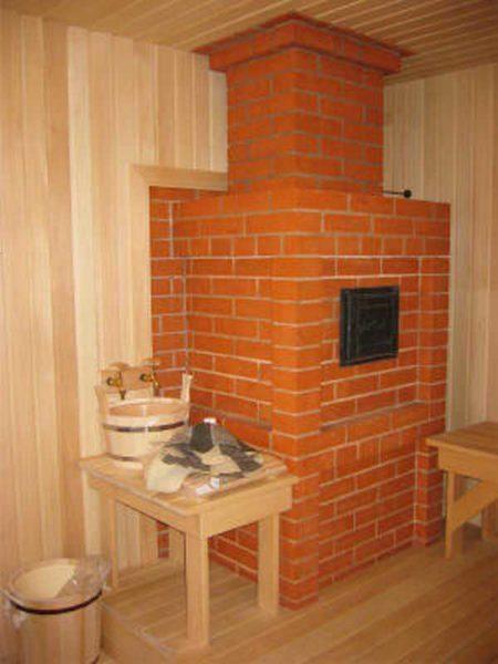 Классика жанра: кирпичная печь для бани