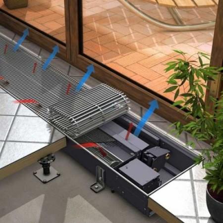 Для увеличения эффективности встраивают вентилятор, а для возможности регулирования температуры термостат