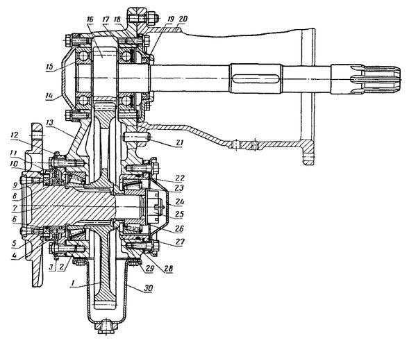 Бортовая трактора Т-25 (схема)