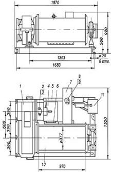 Лебедка тяговая электрическая ТЛ-7Б-1