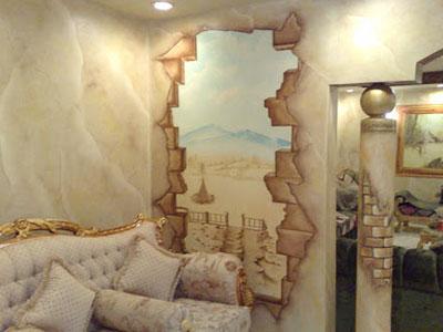 фрески в интерьере современной квартиры