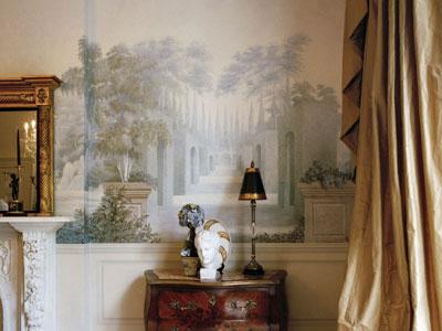 декорирование стены фресками