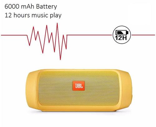 Компактная Стерео-колонка портативная JBL CHARGE5+, с автономным питанием и съёмным аккумулятором. Удобна для подключения планшета, ноутбука, мобильного телефона, MP4-плеера и пр.