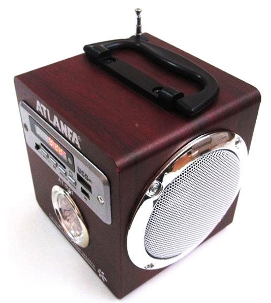 Компактная Стерео-колонка портативная UBS-R61, с автономным питанием и съёмным аккумулятором. Удобна для подключения планшета, ноутбука, мобильного телефона, MP4-плеера и пр.