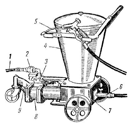 Пневматический солидолонагнетагель модели 170 (общий вид)