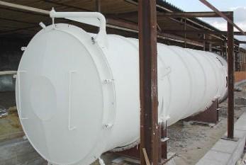 Резервуар с нанесенным на него утеплителем Астратек