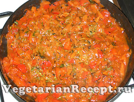 Овощная начинка для лазаньи (фото)