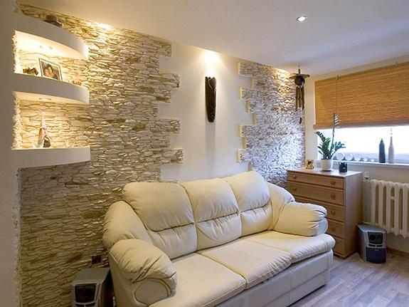 Гипсовая плитка используется только в помещениях с низкой влажностью