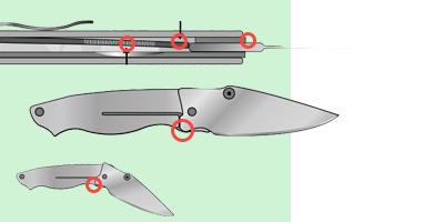 Замки liner lock для ножей