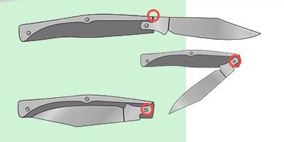 Замки slip-joint складных ножей
