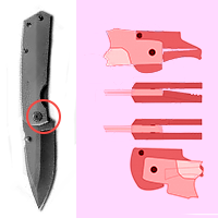 Замки фиксации ножей Monolock, Reeve Integral Lock