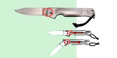 Ригельные замки складных ножей