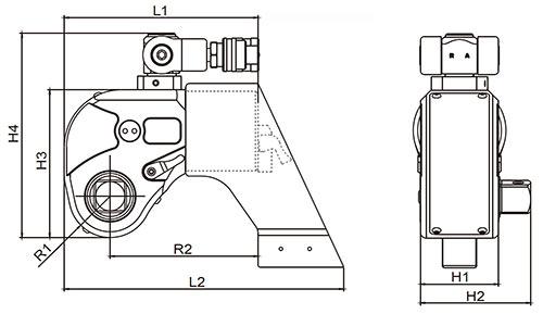 Гайковерт гидравлический торцевой ГГМТ-4500 - схема
