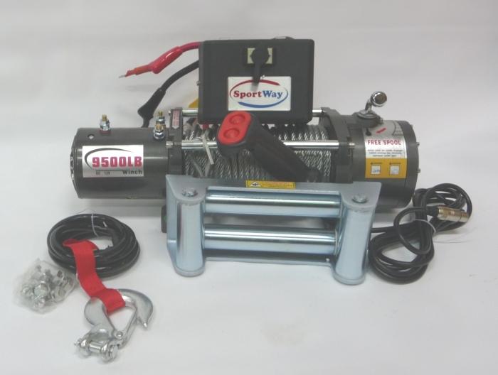Лебедка автомобильная электрическая SportWay PS9500 12V