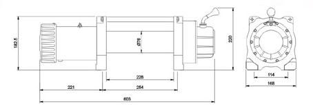 Лебедка автомобильная электрическая SportWay X8500 (X8288) 12V (скоростная)