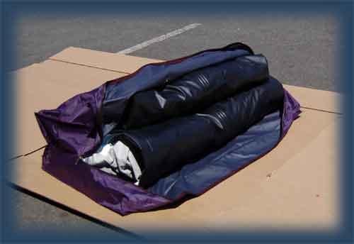 Место сложены надувные в мешок