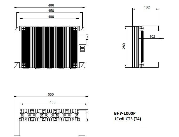 Взрывобезопасный нагреватель ВНУ-1600Р