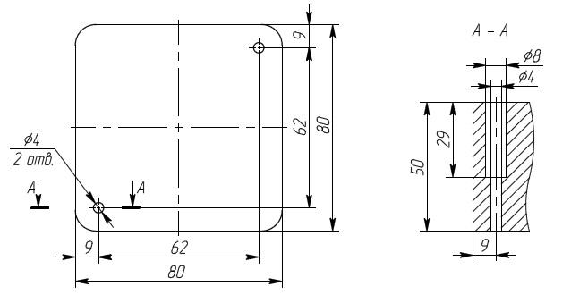 Способ крепления взрывобезопасной коробки АКВ-02А